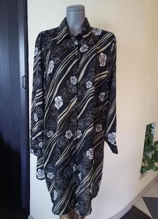 Платье-рубашка,длинная рубашка,сайз плюс 58-60 р