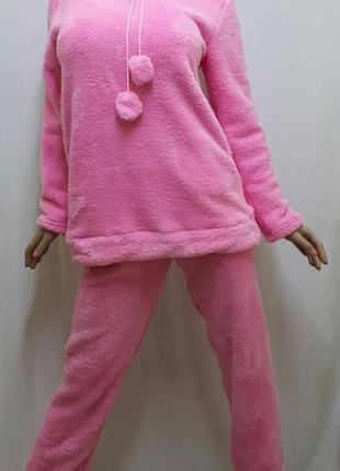 Пижама женская теплая махровая с брюками размеры 42, 44, 46, 48