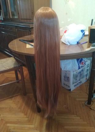 Новый длинный коричневый парик косплей новогодний подарок
