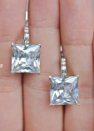 Серебряные серьги н вавилон белые