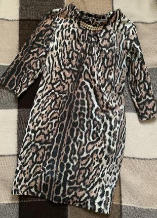 Леопардова сукня, святкове плаття.