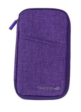 Картхолдер для документов и билетов фиолетовый