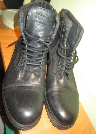 Ботинки jack jones р.45.натур.кожа.оригинал.состоние новых