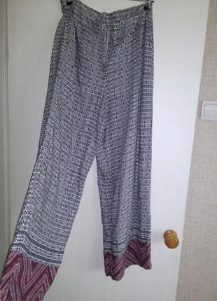 Распродажа!ловите момент!супер брюки натуральные с высокой посадко англия1 фото