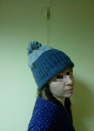 Зимняя  женская шапка 70 %шерсть, 30% акрил
