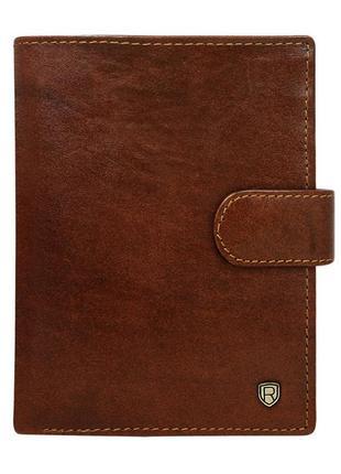 Мужское кожаное портмоне rovicky d1072l-rvt brown