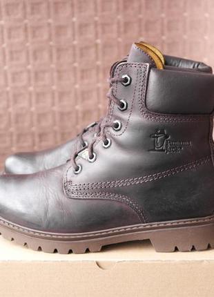 Panama jack р.38,5-25см кожаные ботинки.