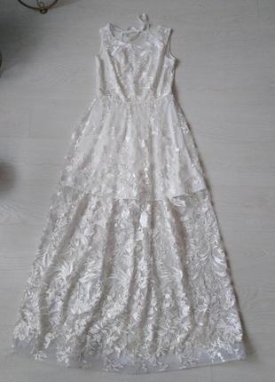 Шикарное элегантное свадебное платье из кружева!! счастливое!!!