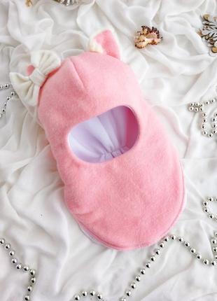 Шапка зимняя теплая шлем кошечка на девочку