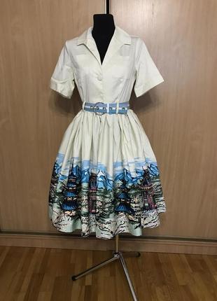 Винтажное пышное платье