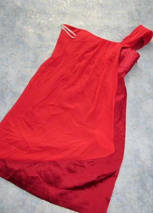 Вечернее  платье цвета марсала из натурального шелка от karen millen р.12 l. тренд сезона!