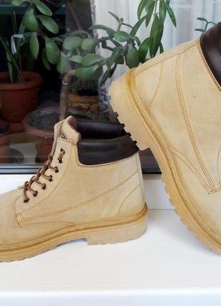 """Утепленные прочные и мягкие кожаные ботинки """"мх 2"""". англия. 44 р."""