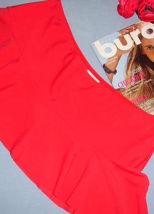Низ от купальника раздельного женская юбка на плавки размер 48 / 14 красная с юбочкой