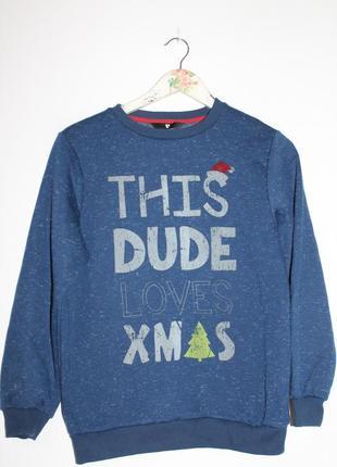 Уютный свитшот с рождественской тематикой