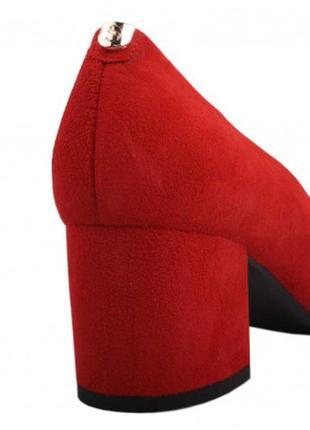 Туфли устойчивый каблук  sala натуральная замша р. 37-40