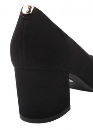 Туфли устойчивый каблук sala натуральная замша р. 36-40