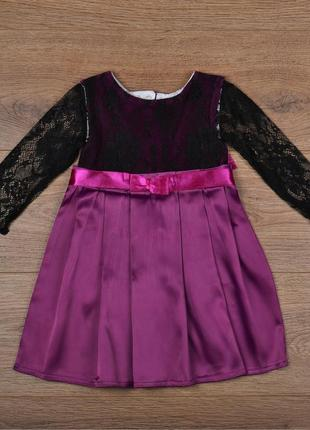 Акционная цена - разные цвета - нарядное праздничное платье с кружевами - р. 74-80 и 86-92