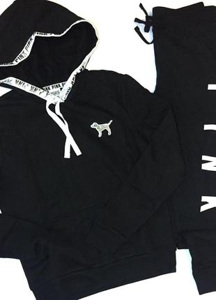 Спортивный костюм пуловер худи свитер джоггеры скини штаны виктория сикрет оригинал