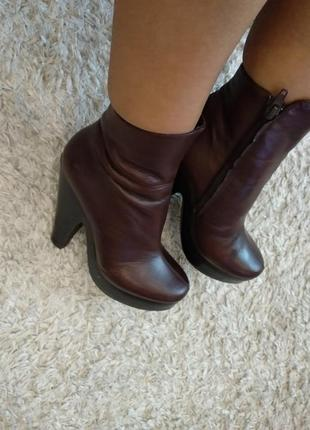 Кожа! ботинки полусапоги
