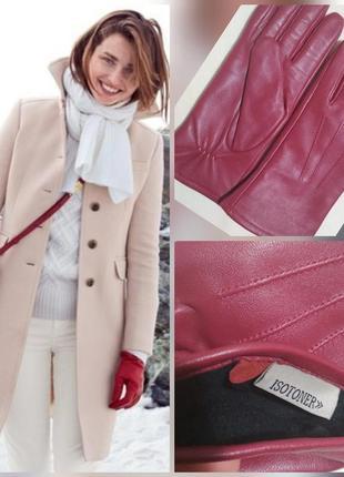 Фирменные кожаные перчатки, мягкая, 100% натуральная лайковая кожа