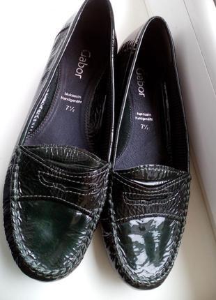 Суперські   туфлі  -лакова шкіра -  колір темний смарагд ! нові