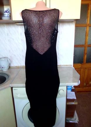 Новое брендовое шикарное соблазнительное платье, спина кружево, 1 бок высок разрез