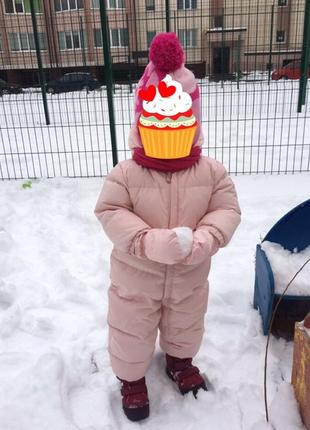 Зимний пуховый комбинезон gap 18-24 месяца