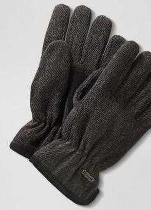 Теплые мужские термо перчатки с шерстью на флисе, thinsulate от tcm tchibo, размер 8.5
