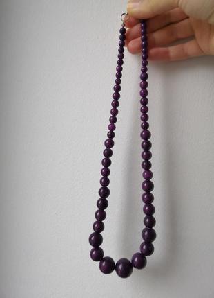 Бусы фиолетовые 50 грн