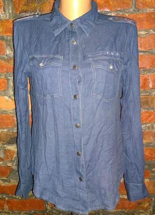 Рубашка блуза кофточка из коттона crafted