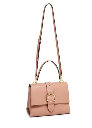 Фирменная кожаная сумка сатчел henri bendel riverside top handle satchel