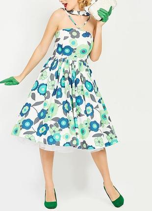 Красивое винтажное платье с цветочным рисунком!