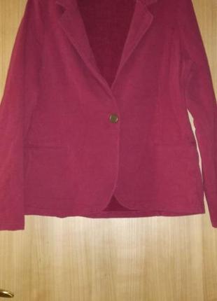 Пиджак трикотажный цвет марсала!