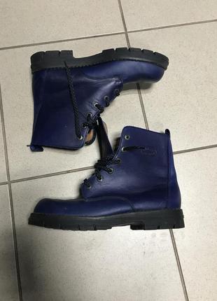 Ботинки кожаные фирменные дорогой бренд musk design размер 40
