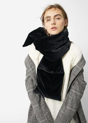 Стильный обьемный шарф