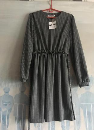 Платье из плотного трикотажа s-m
