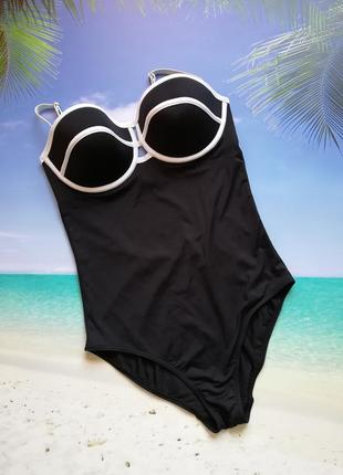 Черный сдельный купальник 80д