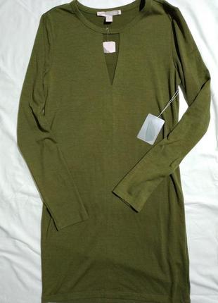 Красивое оливковое платье от forever 21