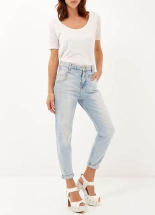 Мом mom высокая посадка джинсы 14 размер
