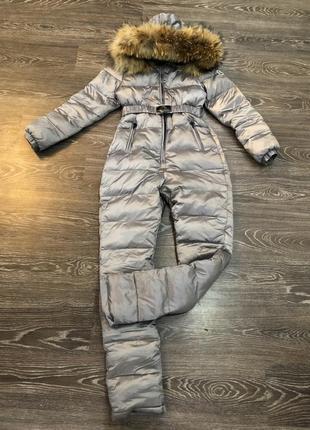 Лыжный зимний комбинезон костюм moncler