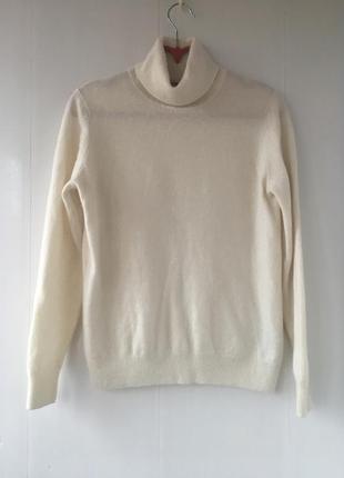 Кашемировый молочный гольф, натуральный кашемир свитер,