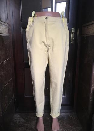 Лимонные джинсы с высокой талией 42 р