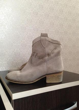 Ботинки замшевые /замшевые полусапожки/ туфли /ковбойки