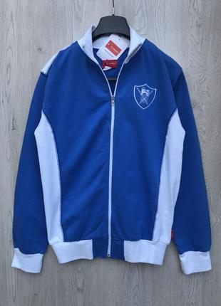 Спортивная синяя кофта/ветровка /олимпийка
