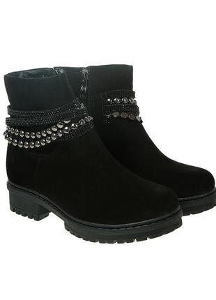 910цп женские ботинки foletti,замшевые,на каблуке,на толстом подошве,на низком ходу