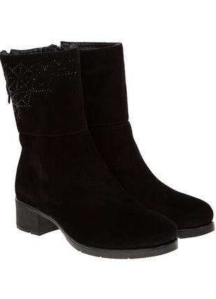 906цп женские ботинки foletti,замшевые,на танкетке,на каблуке,на толстом каблуке