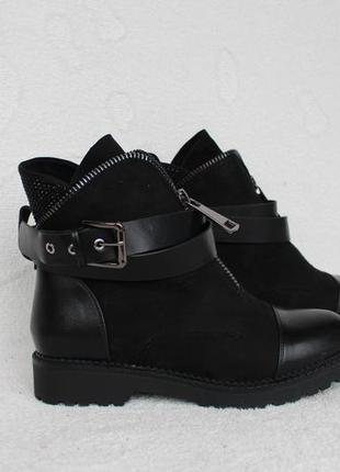 Зимние сапоги, ботинки 37 размера на низком ходу