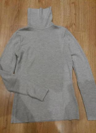 Водолазка,свитер с горлом - 100% шерсть от marks&spenser