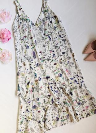 Шикарное платье миди h&m в цветочный принт
