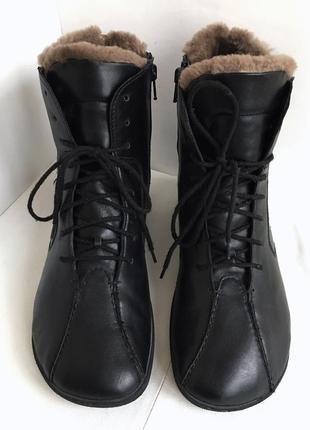 Ботинки кожаные зимние, на меху, качественные bar, 38/39 размер.